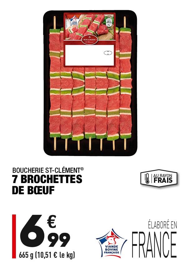 7 brochettes de boeuf