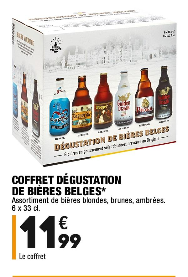 Coffret dégustation de bieres belges*