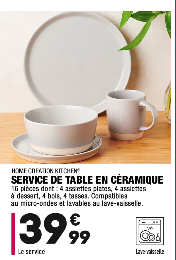 Service de table en céramique