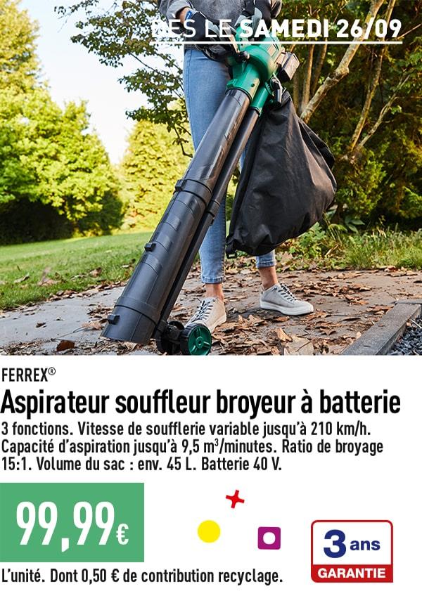 Aspirateur souffleur broyeur à batterie