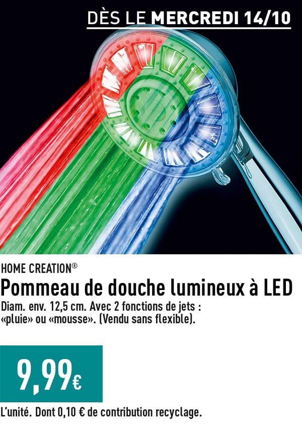 Pommeau de douche lumineux à LED