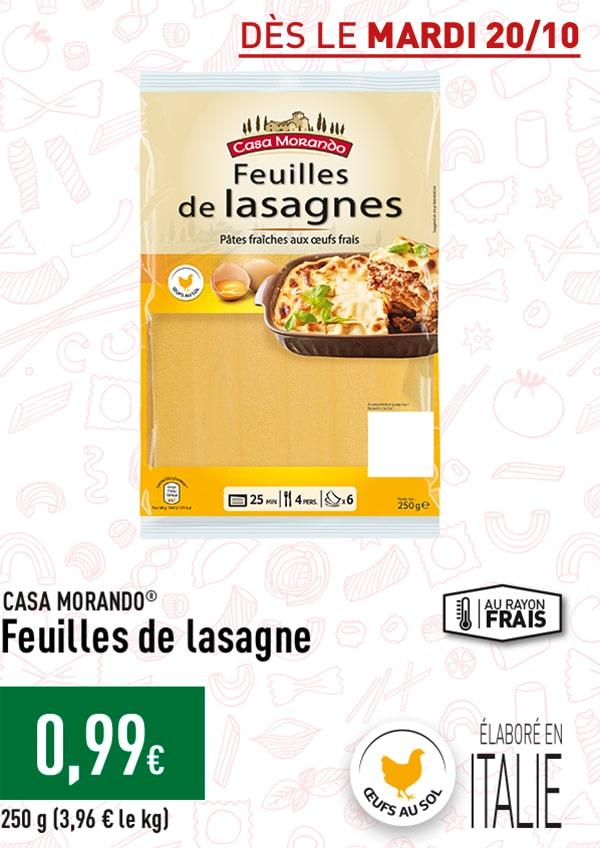 Feuilles de lasagnes
