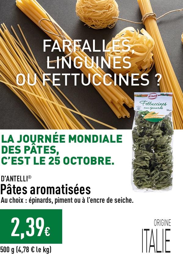 La journée mondiale des pâtes, c'est le 28 octobre - Pâtes aromatisées