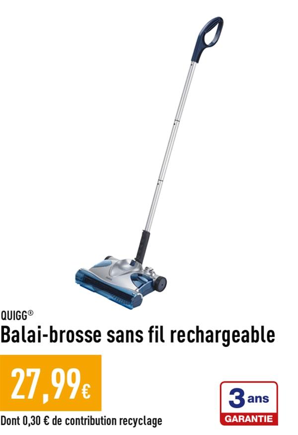 Balai-brosse sans fil rechargeable