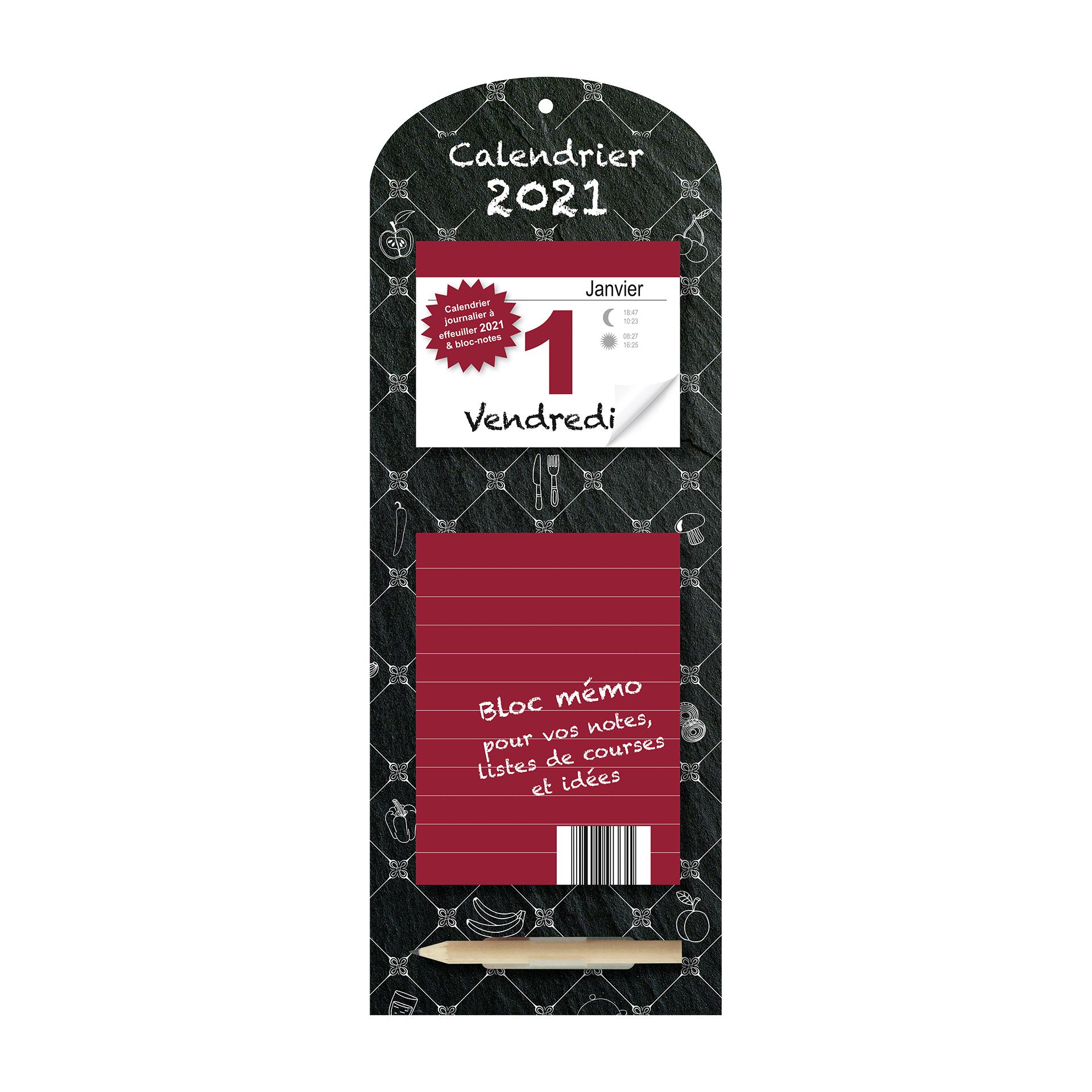 Calendrier mémo 2021 à bas prix chez ALDI